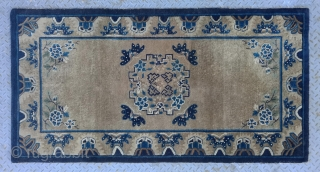 """No.R153 * Chinese Antique Old Beijing Rug.Age: Early 19th Century. Size: 94x177cm(3'1""""x5'10"""") Origin: Beijing. Shape: Rectangle.Background Color: Camels."""