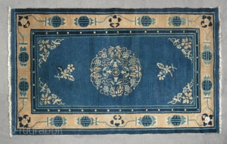 "No.D076 * Chinese ""Peking Rug"" ,Origin: Beijing.Age: Early-20th Century . 
