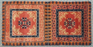 No.R171 * Chinese Antique Mat-Rug(Runner) from Tibet. Age:Late-19th Century.