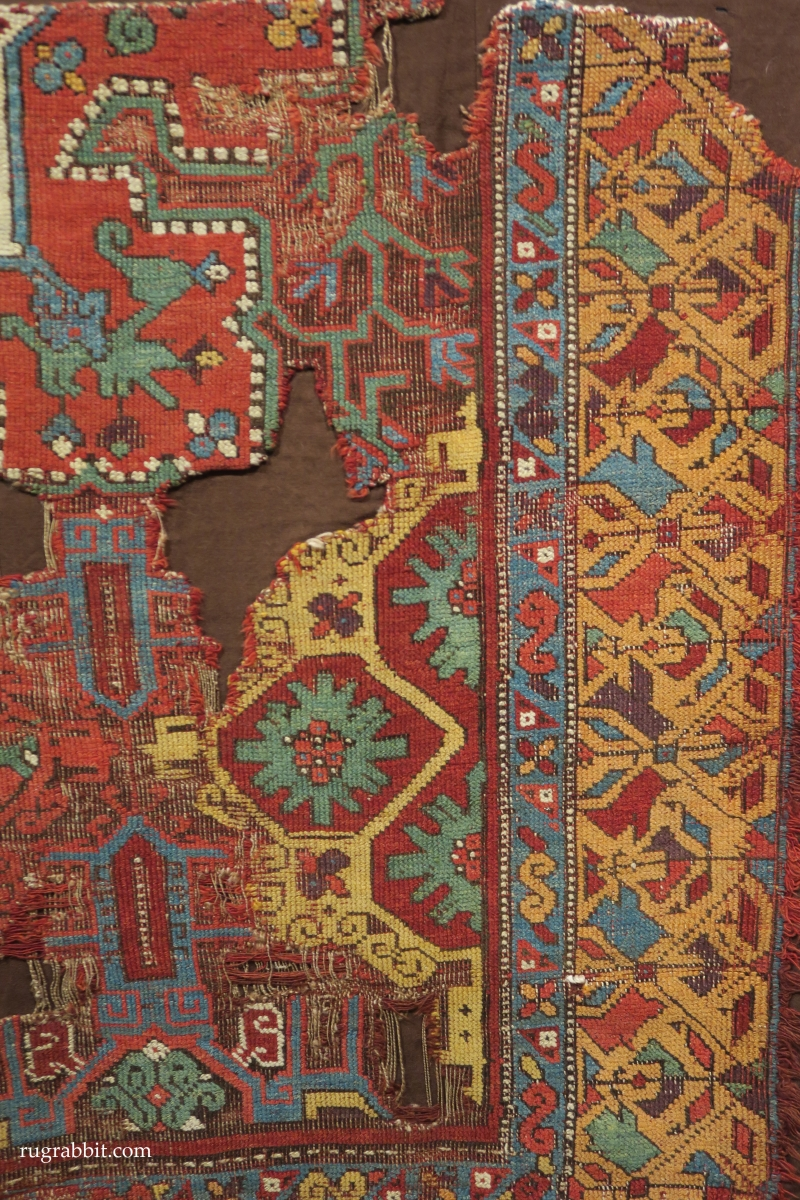 Rugs from the Christopher Alexander Collection at Sotheby's: 3 fragments of a western Anatolian rug