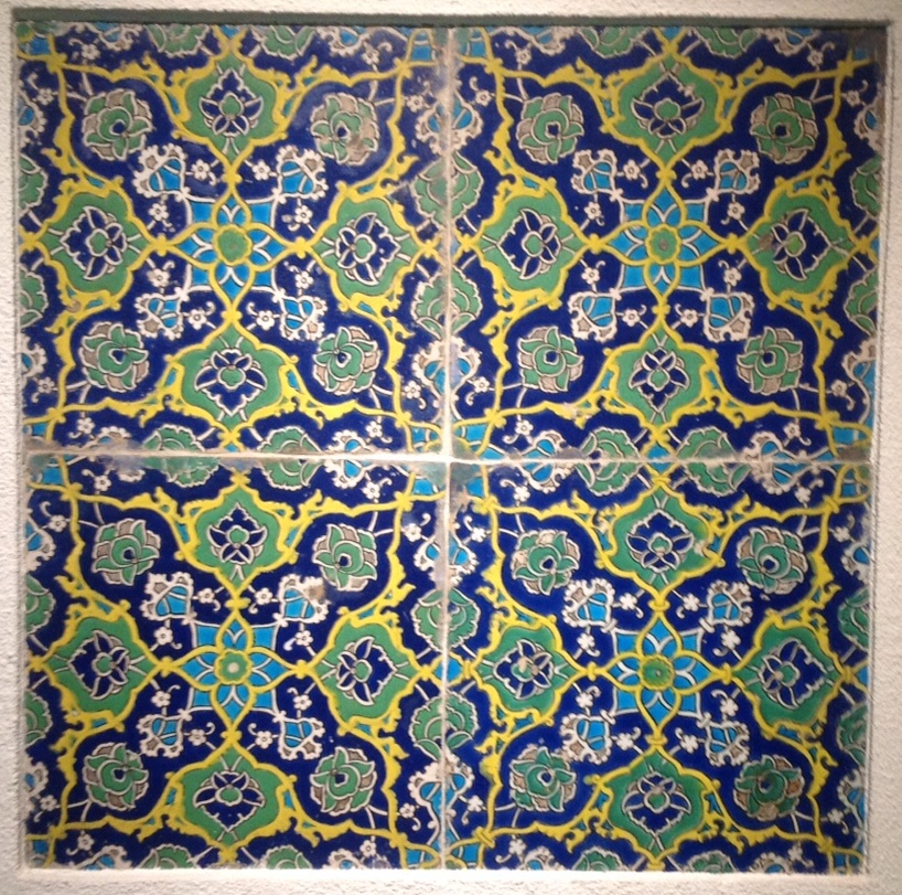 Iznik ceramic tiles, Ottoman Empire, 16th century, Gulbenkian Museum