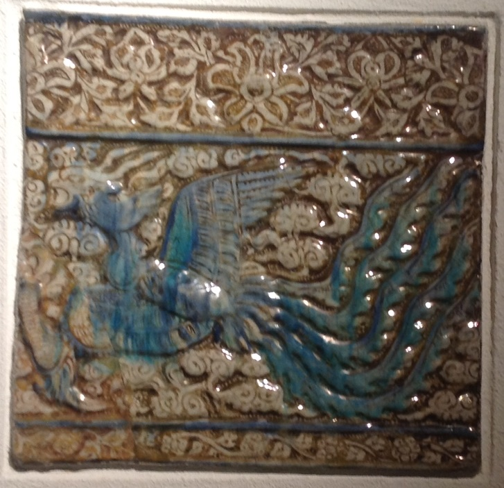 Persian tile, Kashan, beginning of the 14th century, Gulbenkian Museum