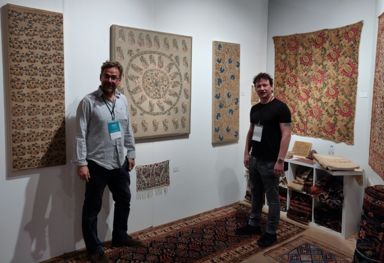 Ottoman era embroideries in Andy Lloyd's booth