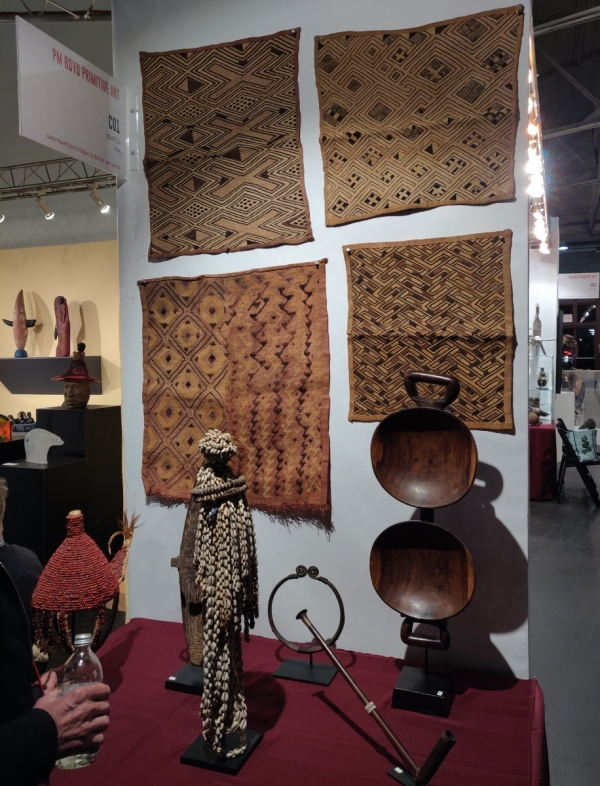 San Francisco Tribal & Textile Arts Show, 2020 PM Boyd Primitive Art Kuba cloth