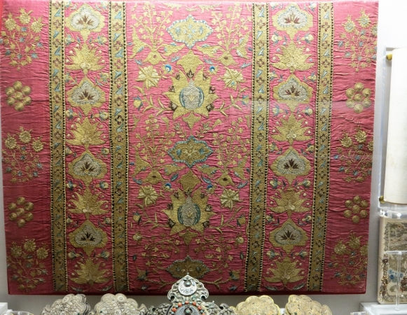 embroidered textile from Asia Minor, 18th century, Benaki Museum