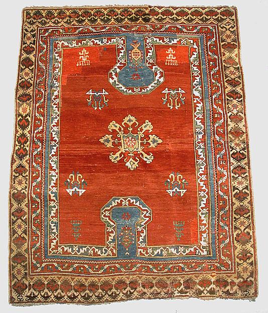 double key hole prayer rug