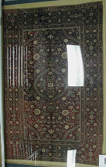 Mughal velvet medallion design